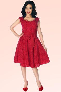 Retrolicious - 50s Vintage Heart to Heart Swing Dress