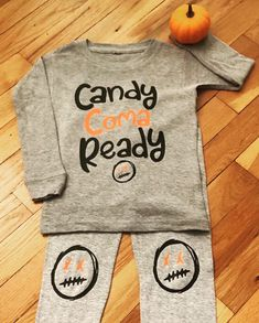 f059e8d19 Candy coma ready, baby boys halloween pajamas, toddler boy halloween pjs, halloween  pajamas, candy pajamas, two piece pjs, custom pajamas