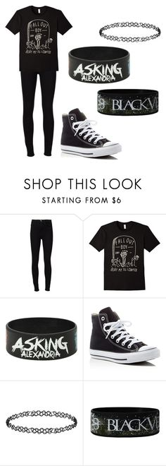 """""""Every breath you take I watch you slip away You're slowly killing yourself"""" by xxghostlygracexx ❤ liked on Polyvore featuring Frame Denim, Converse and Dorothy Perkins"""