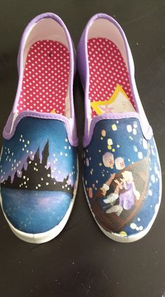 3d29f4b9063be6 Canvas in Motion Art · Painted VansPainted Canvas ShoesHand ...