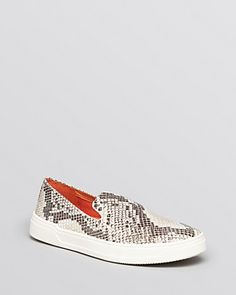 Via Spiga Slip-On Sneakers by Galant | python-embossed leather