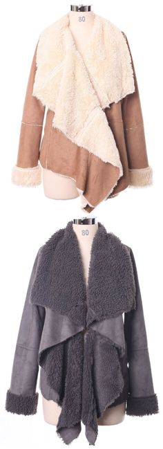 autumn, winter drape shearing jacket for women