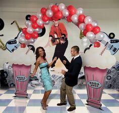 u2014 50u0027s Sock Hop Decorations paper milkshakes for sock hop dance. Redwood Shores Elementary Dinner Dance 2014. | 2014 Dinner Dance | Pinterest | Sock hop ... & 50u0027s Sock Hop Decorations paper milkshakes for sock hop dance ...