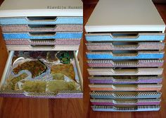 My friend Petra gave me a great idea! I have a new organizer for raw Polymer Clay sheets!