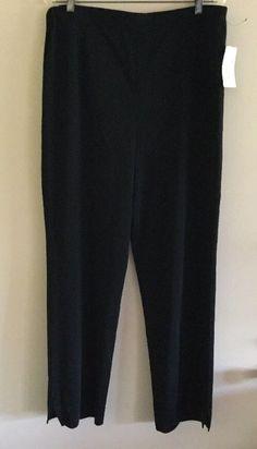 NWT Exclusively Misook Woman Plus Slim Black Knit Pull-On Pant Career Work    eBay