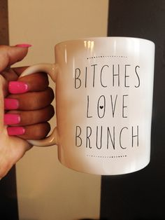 Bitches Love Brunch Animal Mug Quote Mug Brunch by TheHappyDept, $15.00