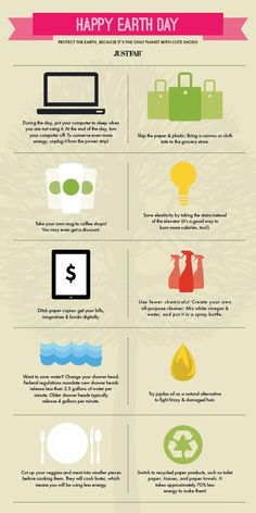 Easy ways for a girl to live green: Earth Day Infographic.