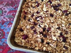 Clara's Window: Utterly delicious maple nut granola