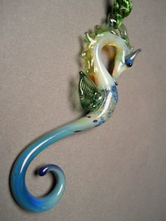 seahorse lampwork necklace #seahorse #sea #ocean #lampwork #jewelry