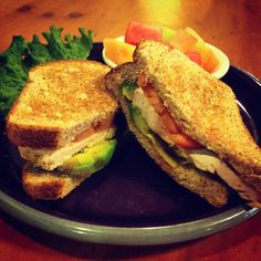 New Fit Meal at the Lambs Farm Magnolia Cafe - Avocado, Chicken and Tomato Sandwich on Whole Wheat Bread!  http://www.lambsfarm.org/new-healthy-menu-at-magnolia-cafe/
