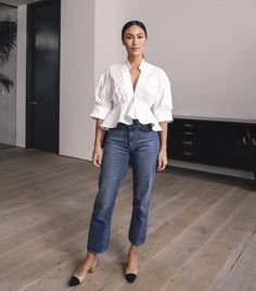 Women Casual Jeans Outfit Denim Jeans For Women Plaid Skinny Pants Dressy Casual Summer Outfits Smart Casual Dress For Women Glam Casual Outfits Casual Wear 2019 Smart Casual Women Dress, Dressy Casual Summer, Casual Chique, Casual Wear, Casual Outfits, Casual Boots, Looks Party, Looks Jeans, Dressy Pants