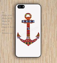 iPhone 5s 6 case Anchor Indian dream flowers phone case iphone case,ipod case,samsung galaxy case available plastic rubber case waterproof B532