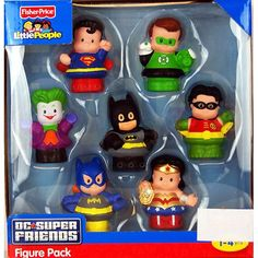 Fisher-Price Little People DC Super Friends Figure Set