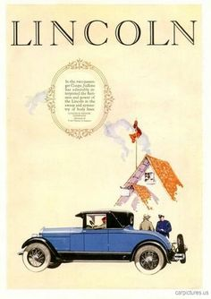 1926 Lincoln 2 Pass Coupe Ad. More Car Pictures:  http://carpictures.us