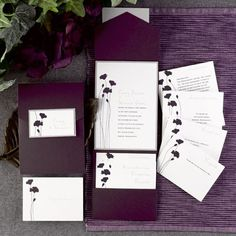 DIY Papers Store - Pocket Fold Invitations Purple Shimmer DIY Pockets Cardstock, $38.98 (http://www.forgetmeknotpapers.com/pocket-fold-invitations-purple-shimmer-diy-pockets-cardstock/)