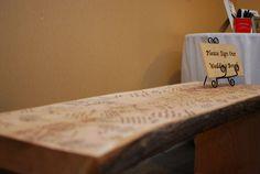 Wedding Bench Guestbook :  wedding bench diy guestbook reception Alice  Eddie Wedding 408