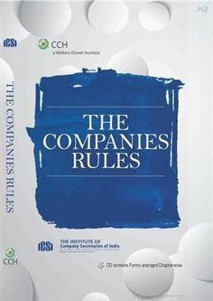 The Companies Rules By ICSI