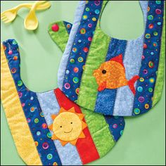 Adorable bibs...quilted