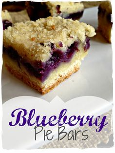 Blueberry Pie Bars-The joy of these bars is that, aside from delicious bursts of juicy blueberries, this recipe calls for only one mix for the crust and crunchy topping.