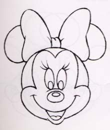 how to draw mini mouse | MinnieM.com / How to Draw Minnie / Drawing Minnie's Head