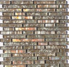 Pearl Glass Mosaic Tile Coffee Linear | Mineral Tiles