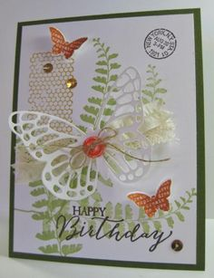 butterfly basics card by Barb Mann.... love the colors... (change sentiment)