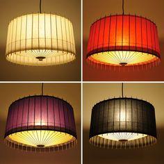 Japanese umbrella lamps: hiyoshiya - kotori #light #interior #paper