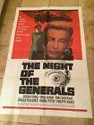 Night of the Generals (1967) ORIGINAL U.S. One-Sheet Poster Peter O'Toole - 1967, GENERALS, Night, O'Toole, OneSheet, ORIGINAL, Peter, Poster, U.S.