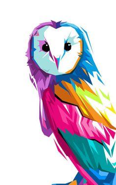 Cubist Pop Owl Illustration by Bernard Salunga