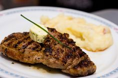 Rib Eye Steak with Mashed Potatoes