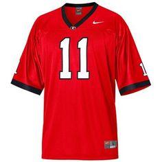 Nike Georgia Bulldogs  11 Youth Replica Football Jersey - Red 9b96d70b2