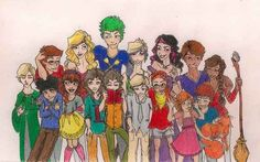 Harry Potter: The Second Generation Top Row: James Potter, Victoire Weasley, Teddy Lupin, Dominique Weasley, Molly Weasley, Fred Weasley, Roxanne Weasley Bottom Row: Scorpius Malfoy, Albus Potter, Rose Weasley, Lorcan Scamander, Lysander Scamander, Louis Weasley, Lucy Weasley, Lily Potter, Hugo Weasley