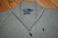 Polo Ralph Lauren Half-Zip Pullover gray Sweater Men's X-Large golf #PoloRalphLauren #12Zip