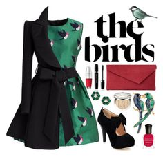 """""""The BIRDS"""" by mo-de-17 ❤ liked on Polyvore featuring Chicwish, Lancôme, L.K.Bennett, Marc Jacobs, Christian Dior and Deborah Lippmann"""