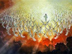 Jezus Christus en de engelen    Alle eer komt hem toe.    Openbaring 5: 11 - 13