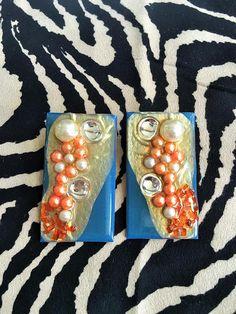 resin earrings-FREE SHIPPING-resin jewelry-bohemian