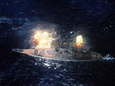 湾岸戦争でイラク軍を砲撃する戦艦ミズーリ(ウィキメディア・コモンズより)
