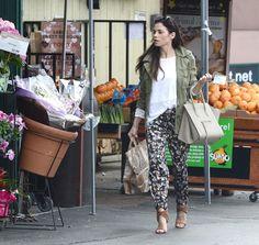 Jenna Dewan Tatum in Peter Som for Kohls printed track pants