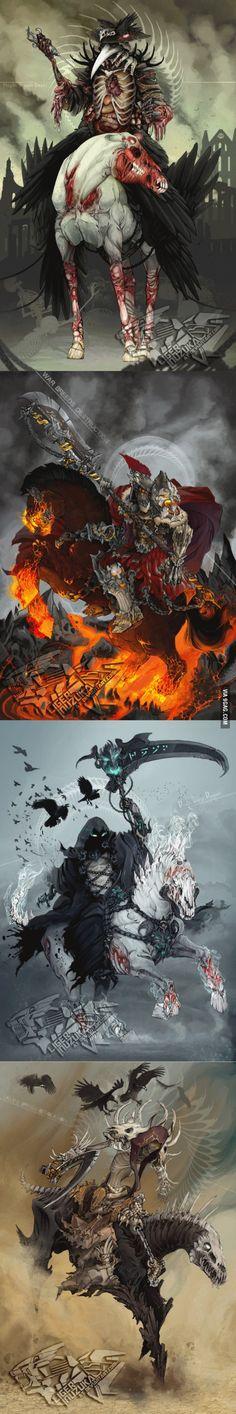 Amazing horsemen of the Apocalypse.
