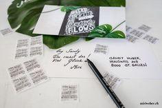 SCHWEIZERISCHE POST WERTVOLLE BOTSCHAFTEN - miriweber.ch - Kreativ - DIY - Food - Familien - Travel Blog aus der Schweiz Diy Blog, Poster, Fonts, Chalkboard Pictures, Creative Cards, Families, Postage Stamps, Postcards, Swiss Guard
