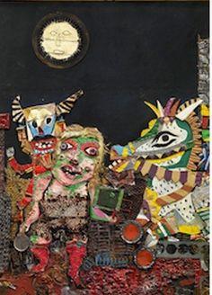 Antonio Berni: Juanito and Ramona Gaucho, Phoenix Art Museum, Museum Exhibition, Recycled Art, Box Art, Collage Art, Moose Art, Folk, Arts And Crafts