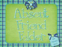 Fluttering Through First Grade: Absent Friends Freebie