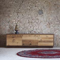 Credenza in legno invecchiato Tola di Miniforms - ARREDACLICK