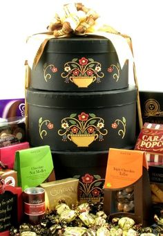 Gourmet Impressions Gift Tower | Elegant Gourmet Gift Basket of Delicious Snacks - http://www.fivedollarmarket.com/gourmet-impressions-gift-tower-elegant-gourmet-gift-basket-of-delicious-snacks/