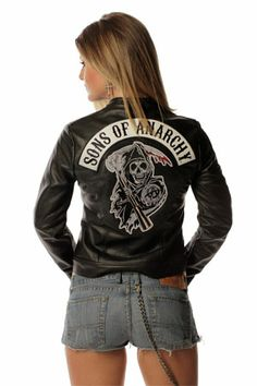 Sons of Anarchy Womens Leather Jacket - Trixie   Piston Clothing   Sons of Anarchy Outerwear   Custom Leathers