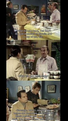 but the answer was quite simple all along - there's no such thing as a decent human being in this world. British Humor, British Comedy, Comedy Quotes, Comedy Tv, Are You Being Served, Only Fools And Horses, Funny Scenes, Horse Quotes, I Love To Laugh