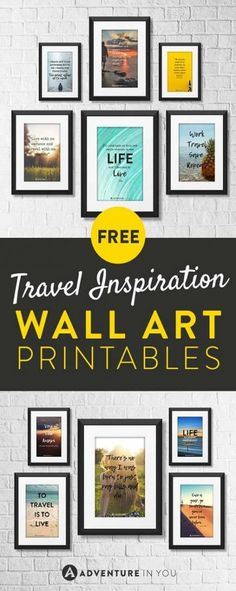 96 best diy travel crafts & travel home decor for travel souvenirs Travel Souvenirs, Travel Maps, Free Travel, Bus Travel, Travel Destinations, Travel Wall Decor, Travel Crafts, Free Art Prints, Adventure Quotes