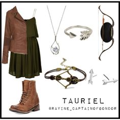 Tauriel inspired outfit by thatdamgurl on Polyvore featuring Topshop, True Religion, Freebird, Bow & Arrow, Olia and Adina Reyter