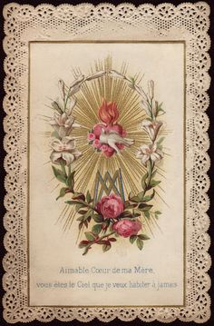 Holy Card Heaven: This is a really lovely page with many beautiful very old Holy Card images.