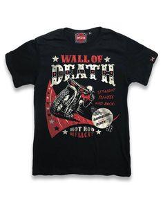 Hotrod Hellcat Kinder WALL OF DEATH T-Shirts.Tattoo,Biker,Oldschool,Custom Style